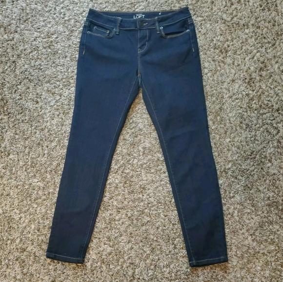 Ann Taylor Loft Modern Skinny Dark Wash Blue Jeans